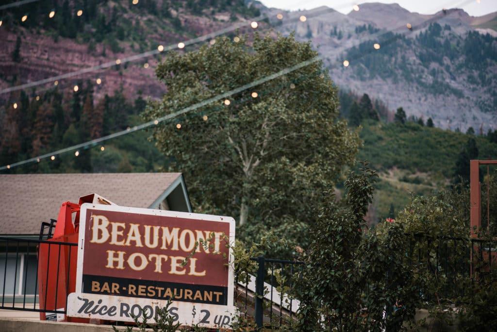 beaumont hotel wedding ouray colorado
