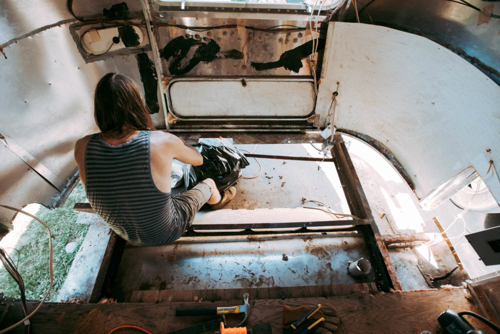 DIY Airstream Renovation of our 1972 Airstream Overlander