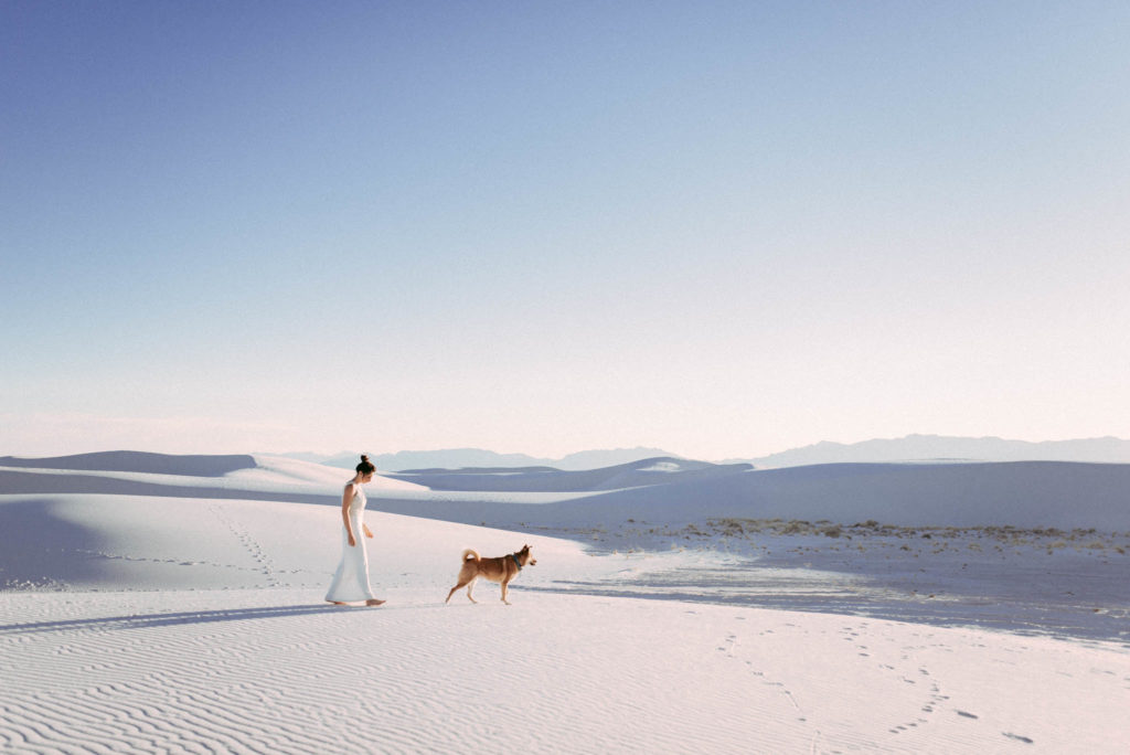 White Sands National Monument Elopement Adventure wedding Session