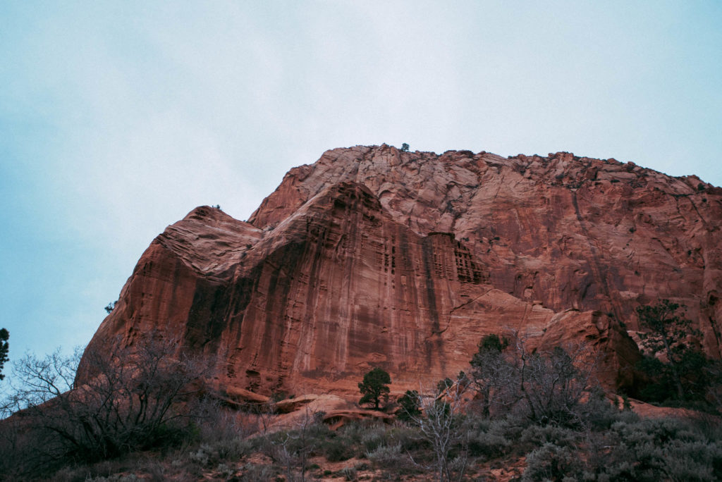 Exploring and hiking in Kolob Canyon Zion national park utah photographed by the foxes photography adventure wedding photographers and outdoor lifestyle photography