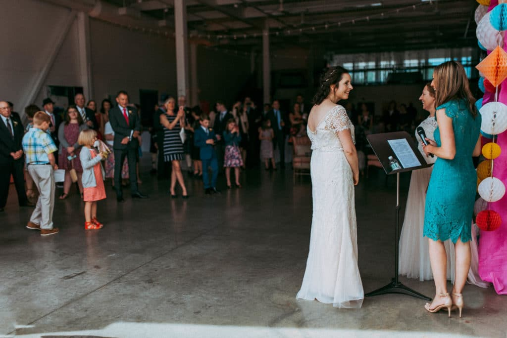 The Foxes Photography Adventure Wedding Photographers Colorful Industrial Wedding at the Artists For Humanity Boston