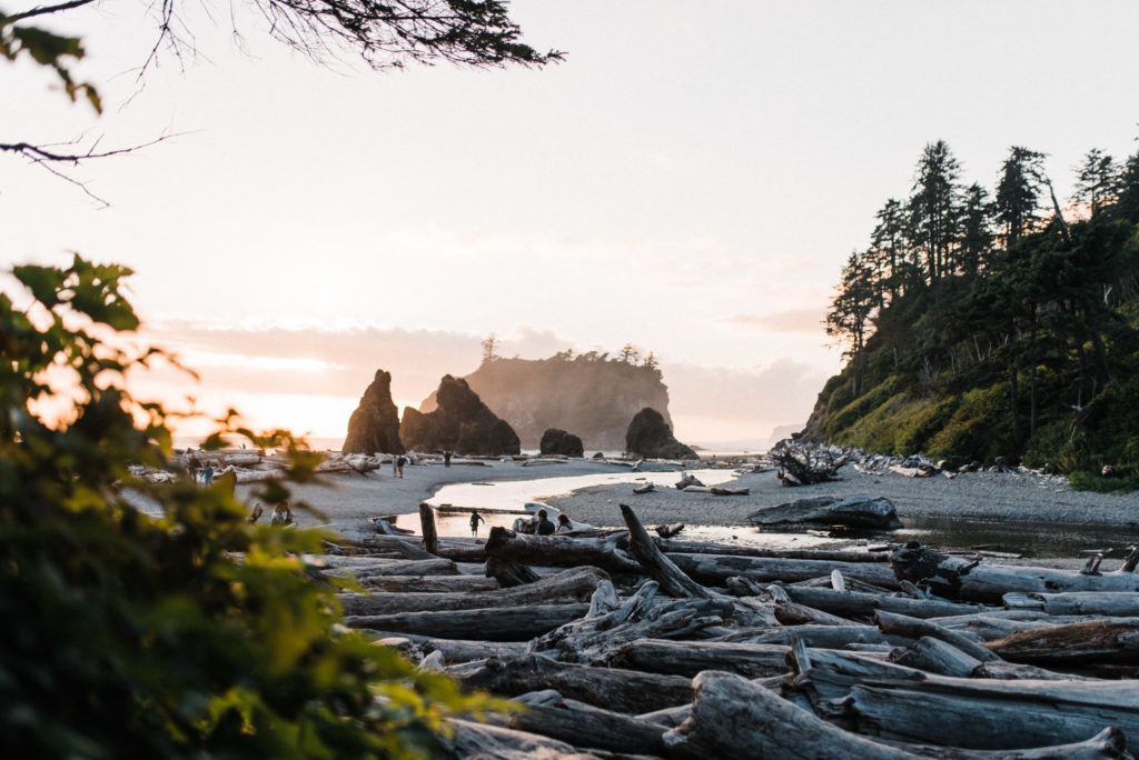 ruby beach sunset elopement scouting seattle wedding photographers