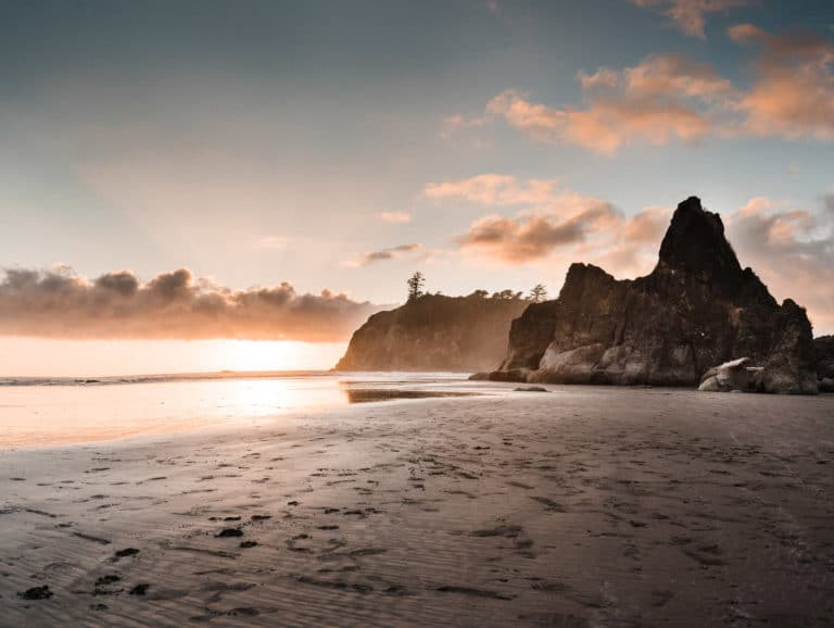 ruby beach elopement scouting sunset olympic national park where to elope in washington