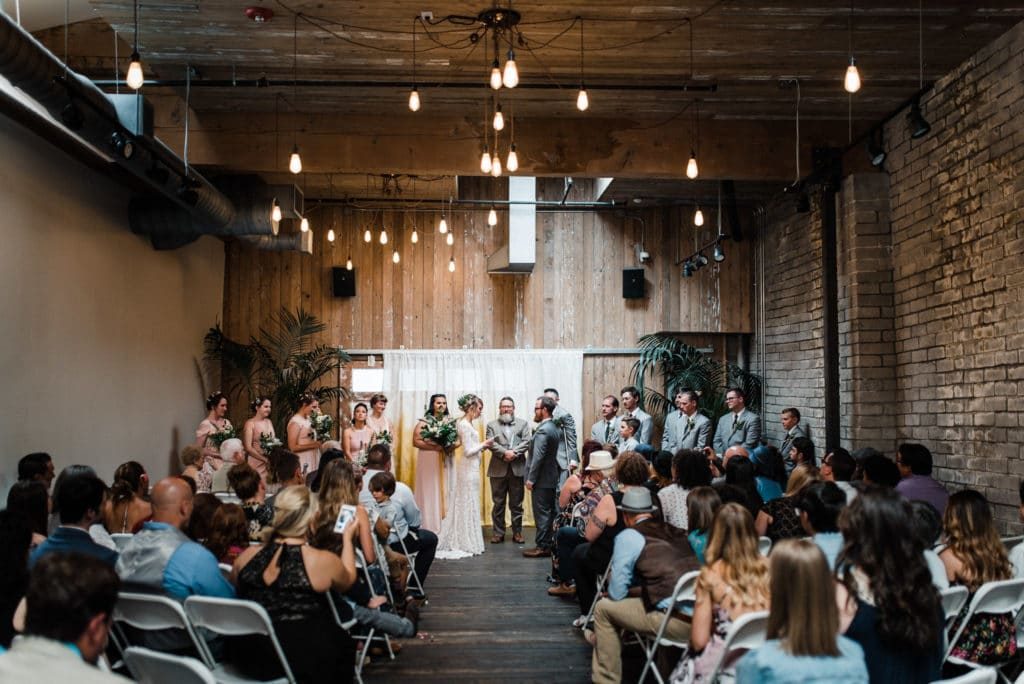 seattle wedding in sodo district ceremony