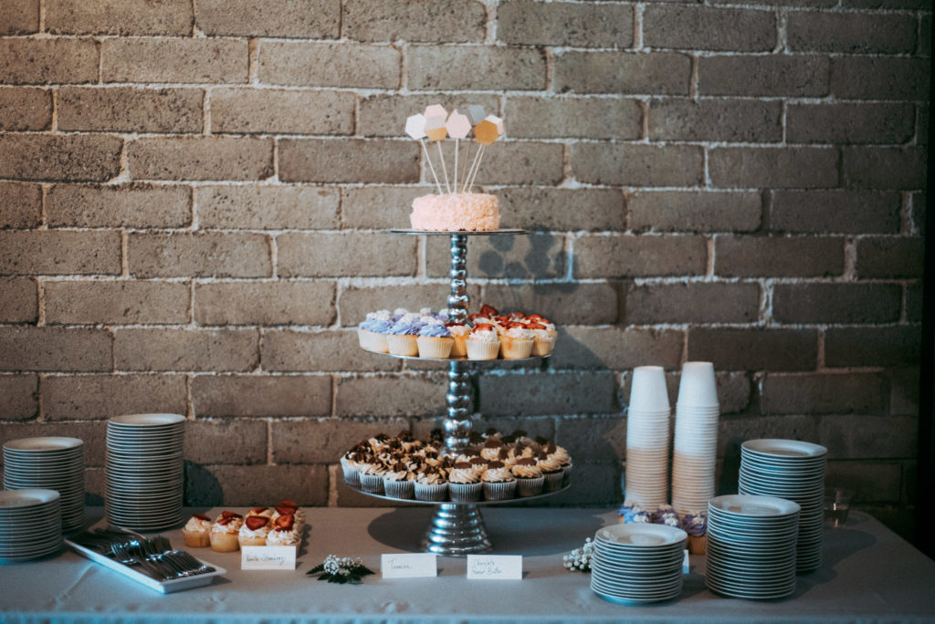 cupcake tower seattle diy wedding withinsodo sodo