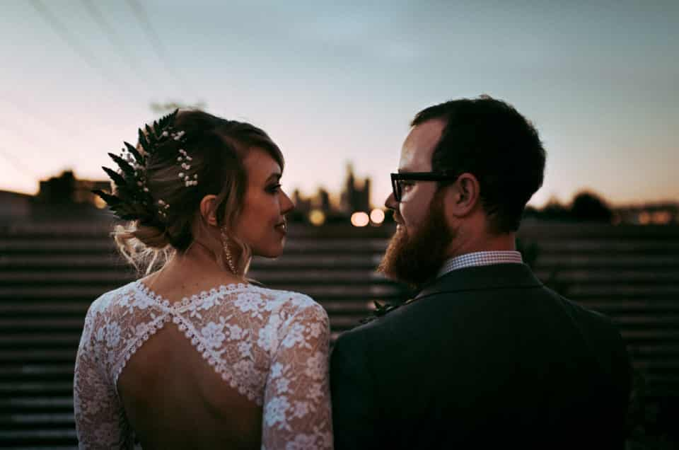 Cancer Couldn't Stop This Beautiful DIY Wedding // Rustic-Industrial in Seattle's SODO District