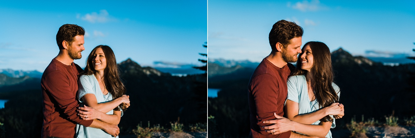 Mt Rainier Engagement Tipsoo Lake
