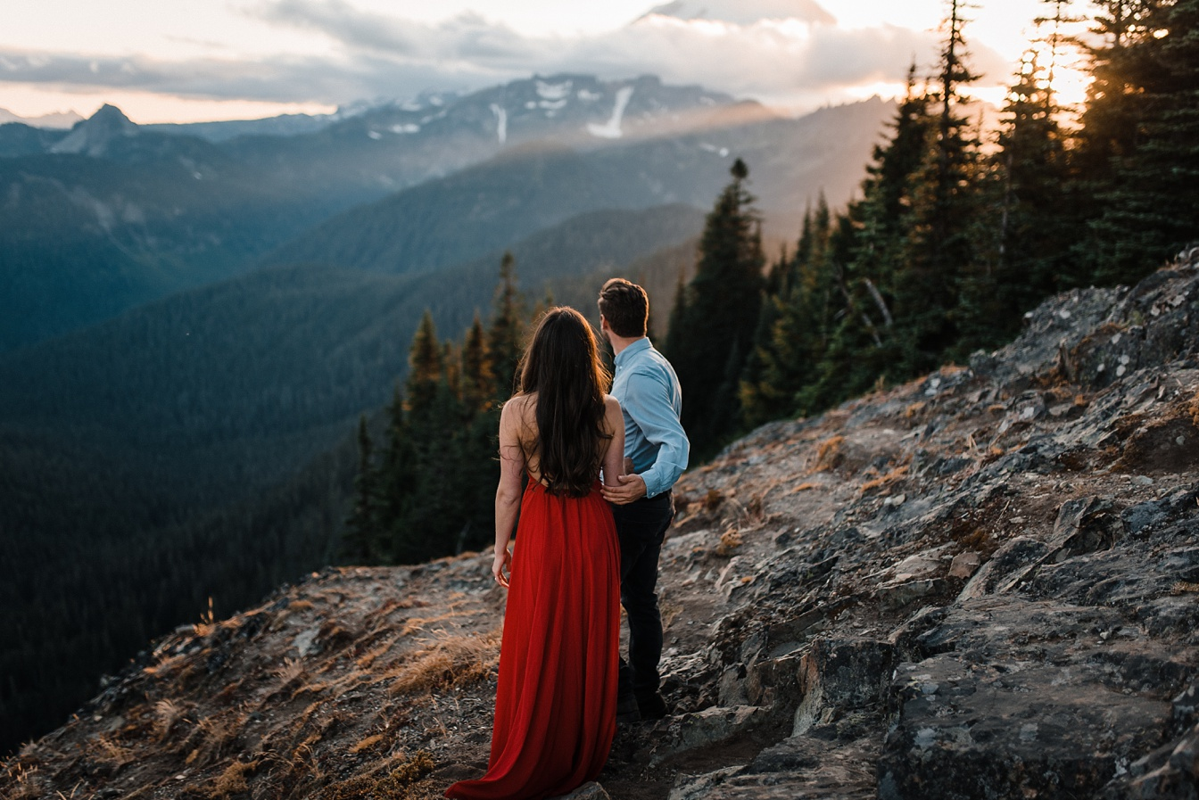 Adventurous Mt Rainier Engagement Washington The Foxes