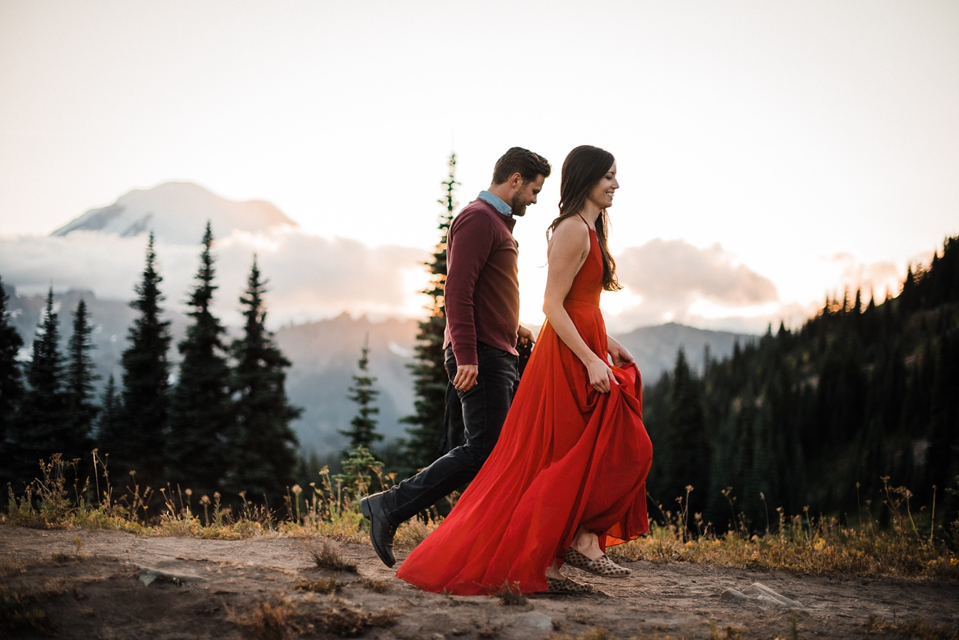 Engagement Photography,Mount Rainier,Naches Peak,