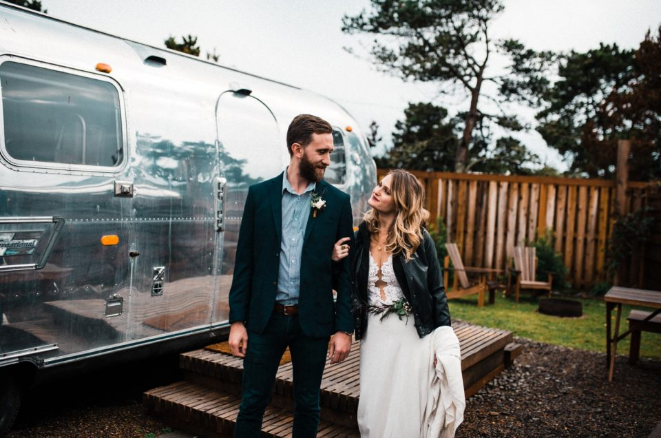 Vintage Airstream Morning of Elopement