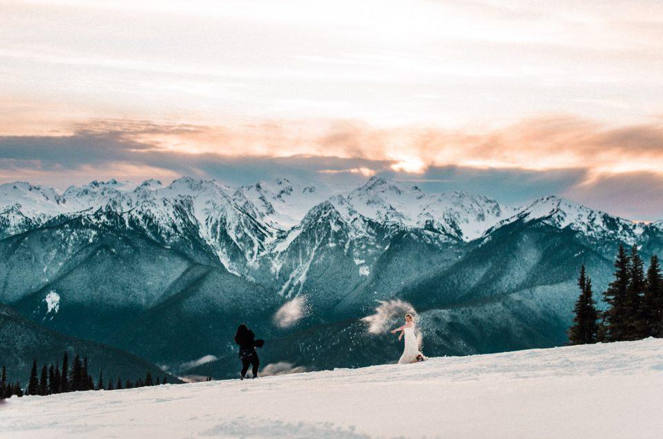 Snow Elopement at Hurricane Ridge // Olympic National Park