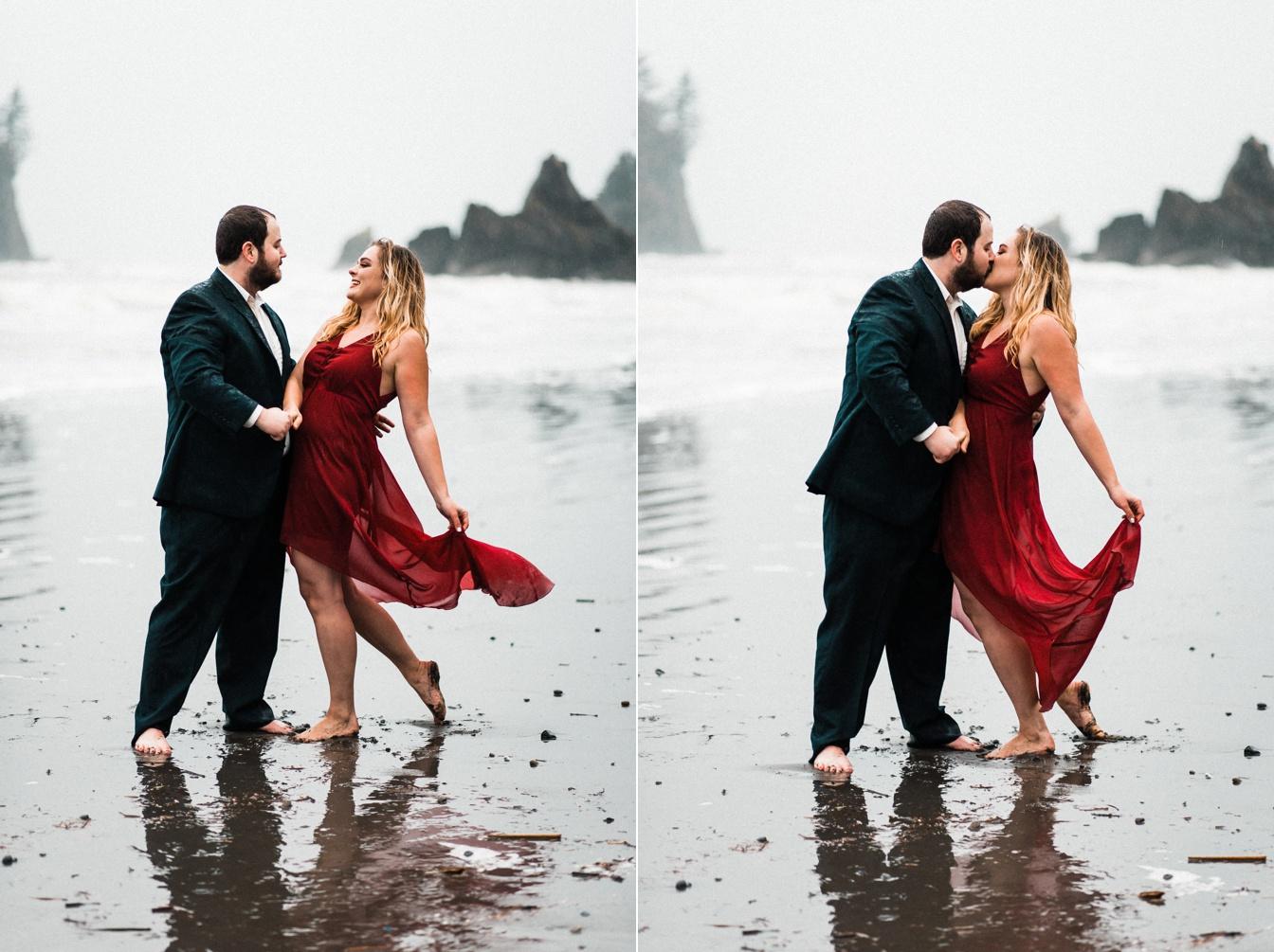 Ruby Beach Adventure Engagement
