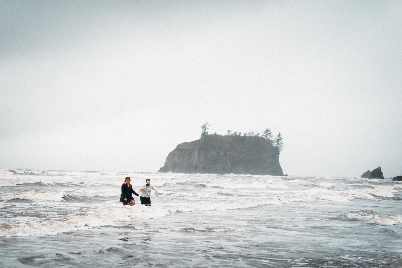 Ruby Beach Adventure Engagement