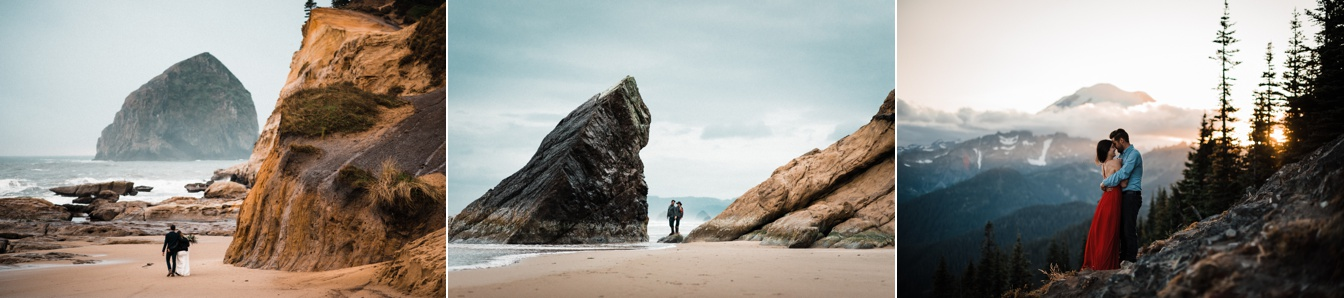 couple photography in adventure wedding and elopement landscapes