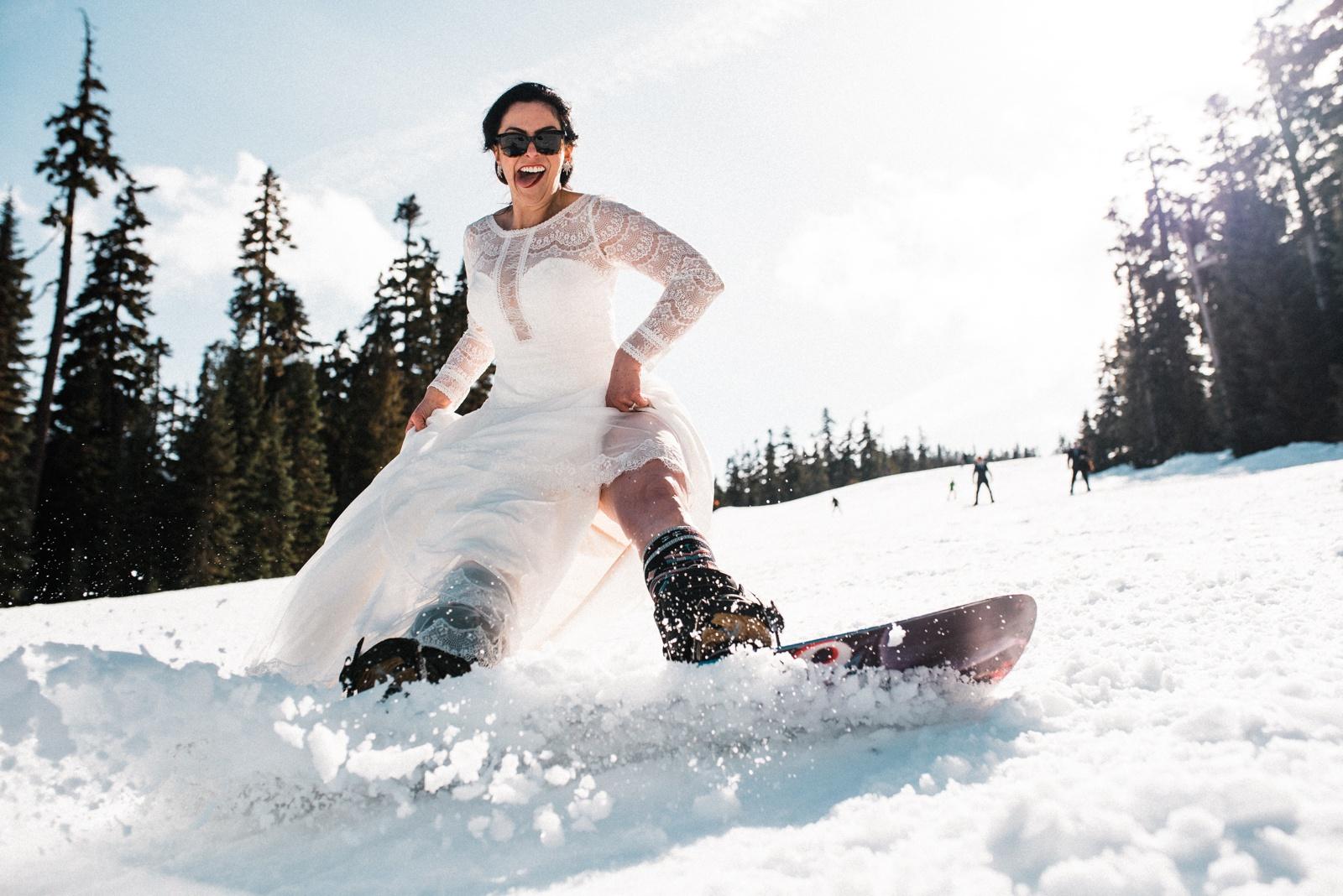 Snowboard Elopement in Washington