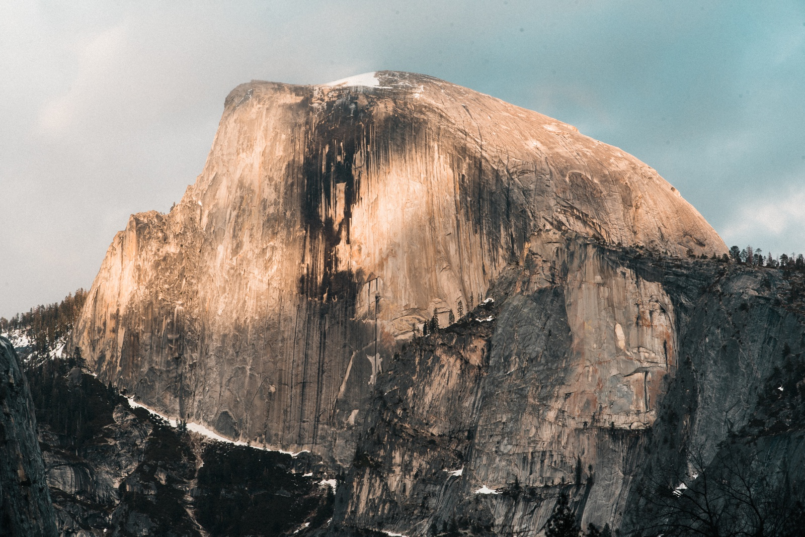 Yosemite in April Half Dome