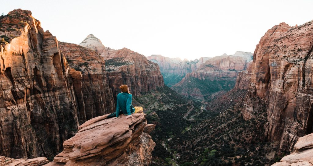 Zion Canyon Overlook Trail at Sunset