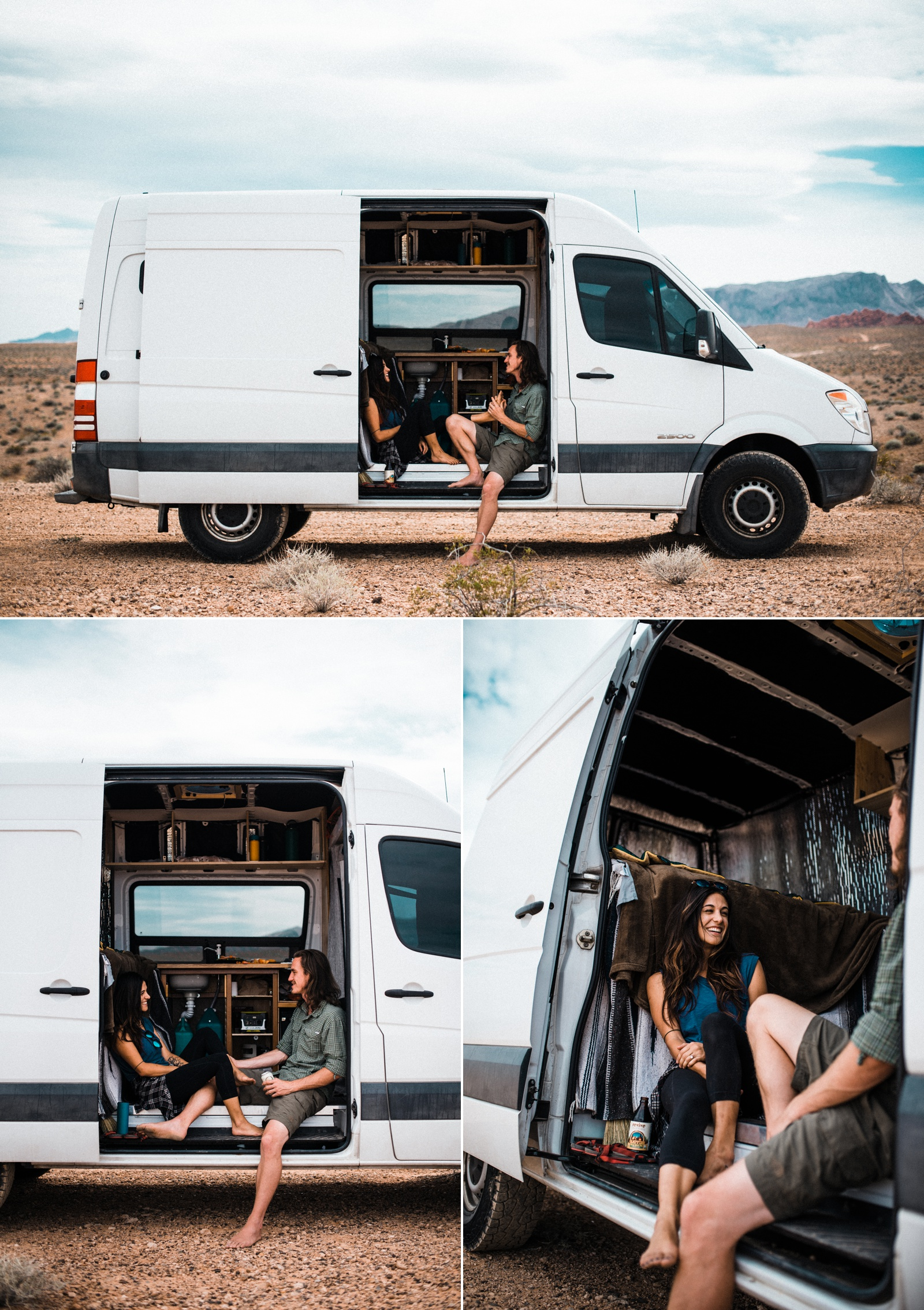 van life couple adventure session