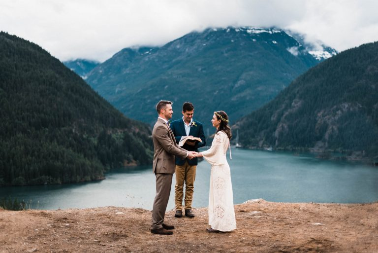 Diablo Lake Elopement Seattle elopement photographers