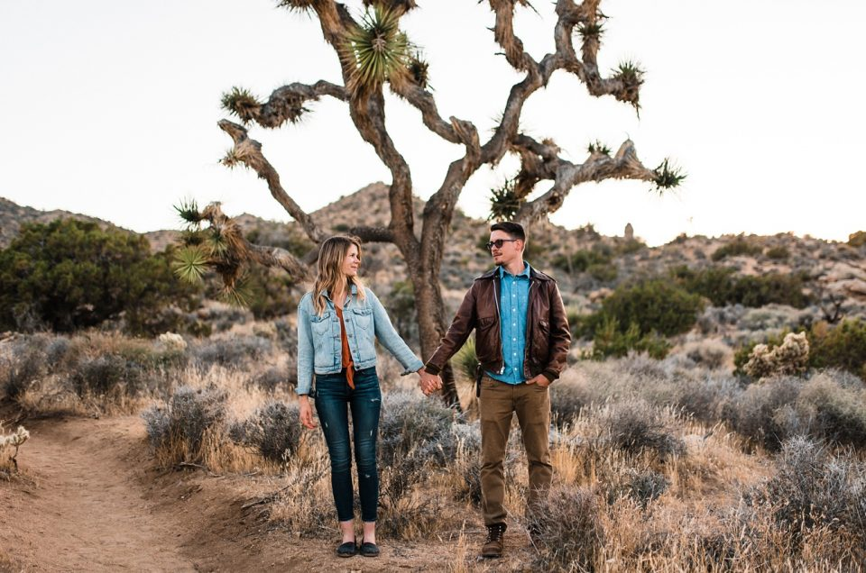 Joshua Tree Sunset Wedding Adventure Session