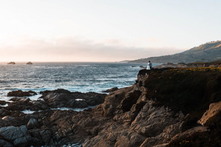 Garrapata state park elopement in big sur