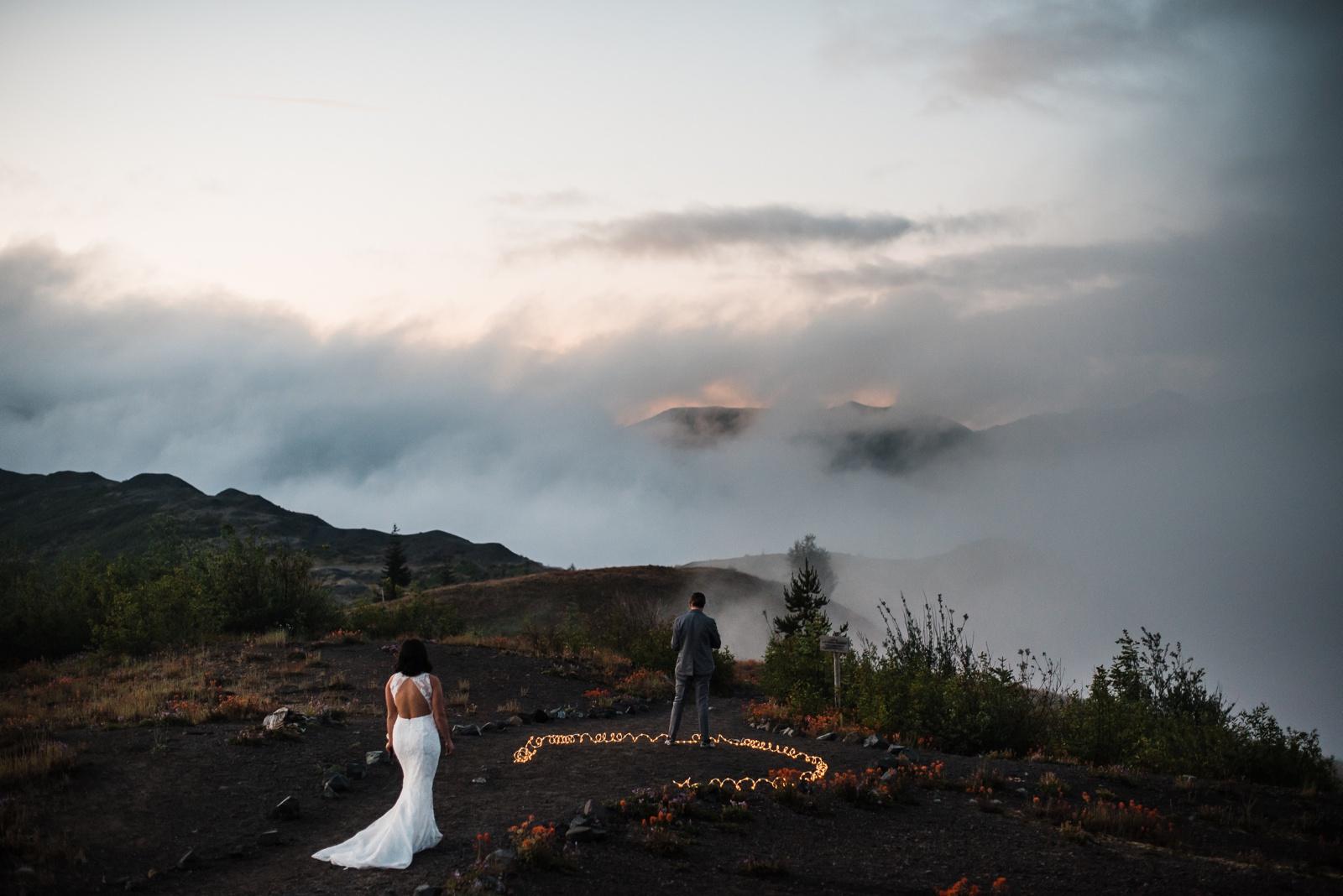 Mount St Helens Elopement Adventure Wedding