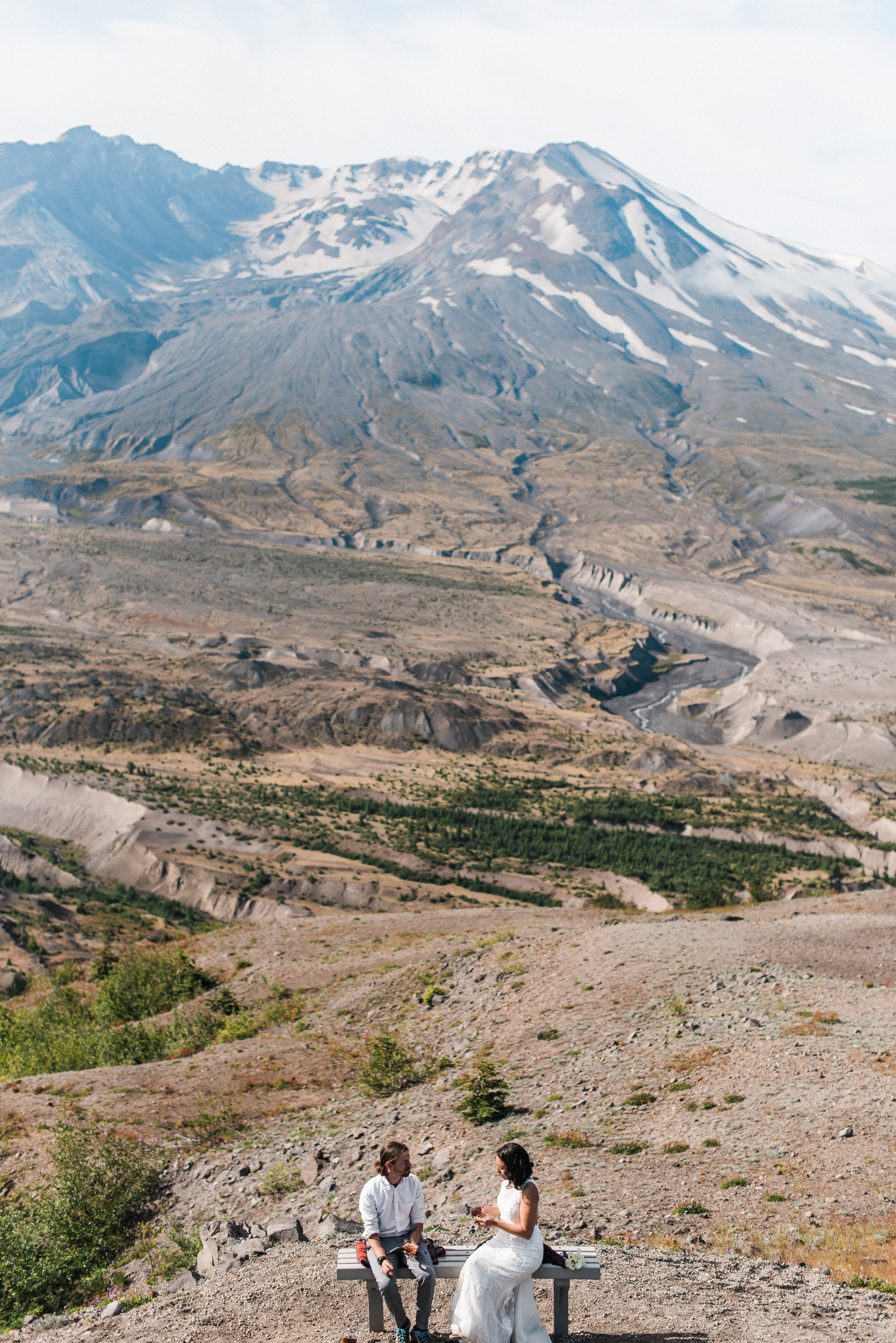 Mount St Helens Elopement Adventure Wedding
