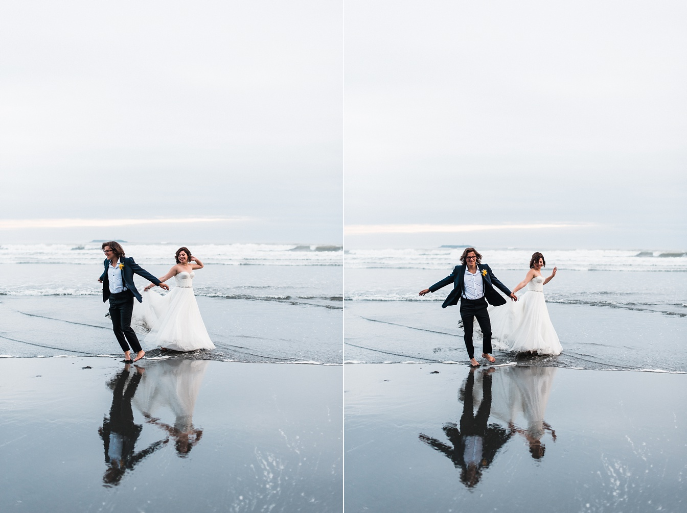 Ruby Beach Elopement in Olympic National Park Wedding