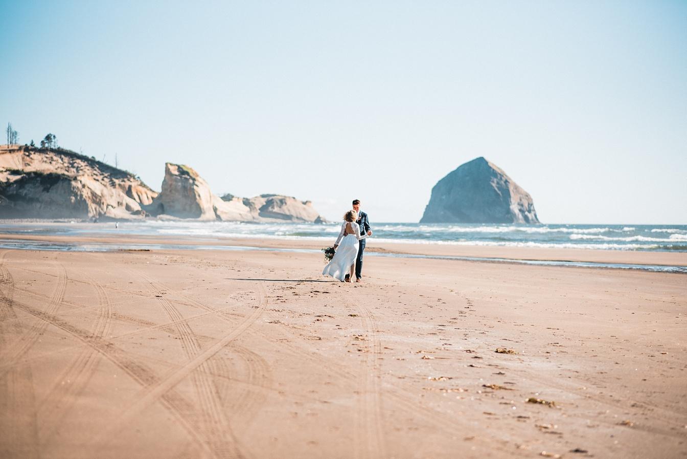 Beach Elopement on the Rugged Oregon Coast