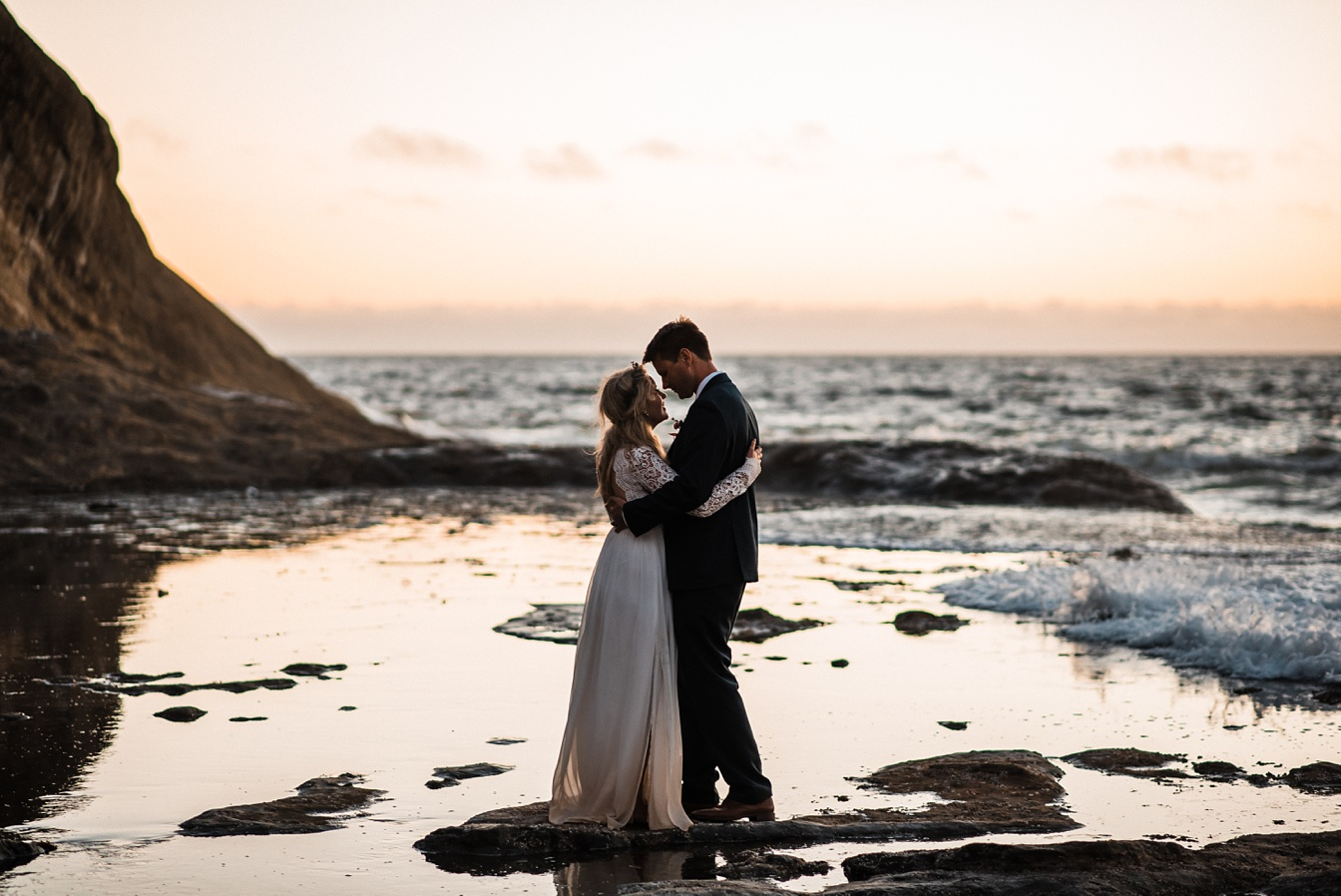 Beach Elopement on the Rugged Oregon Coast