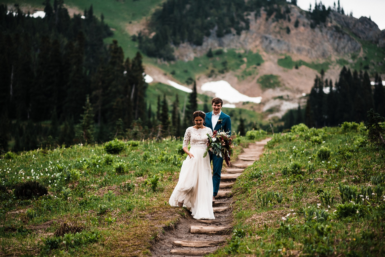 Tipsoo Lake Elopement at Mt Rainier National Park