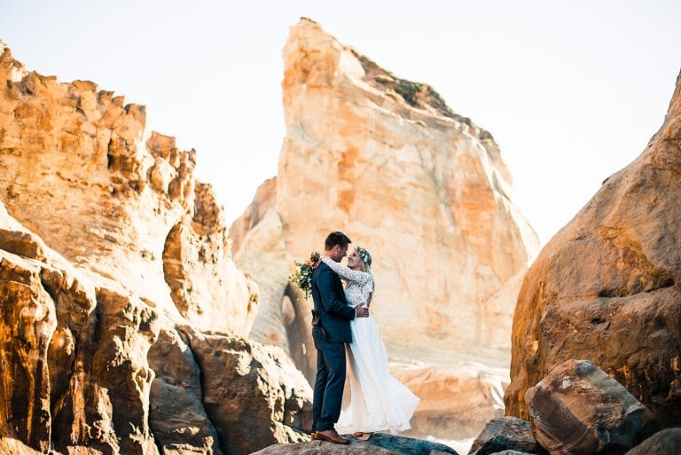 oregon coast cape kiwanda elopement