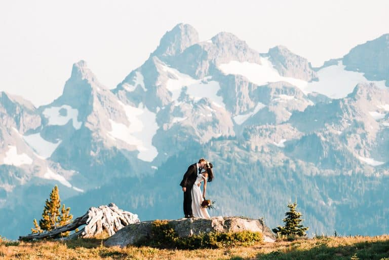 mt rainier national park elopement washington mountains