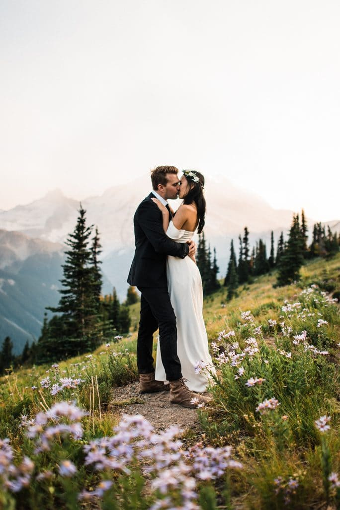 Elopement packages photography Mt. Rainier National Park Washington