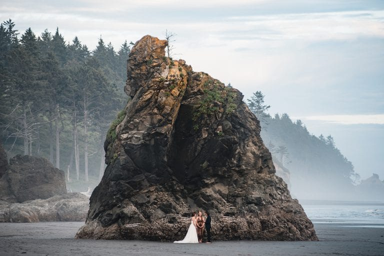 Ruby Beach Elopement Washington coast