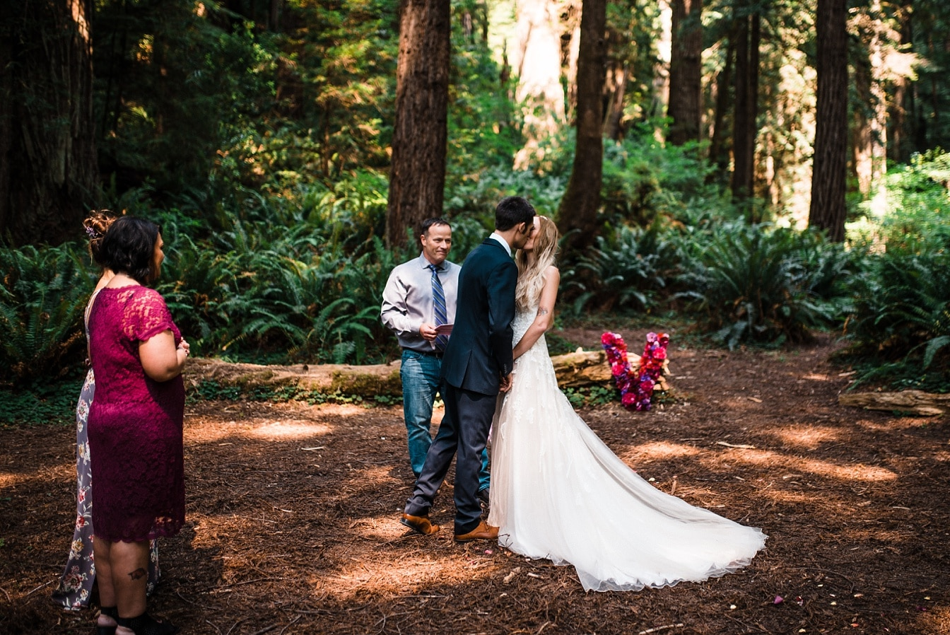Redwoods Forest Wedding and Ocean Cliff Elopement