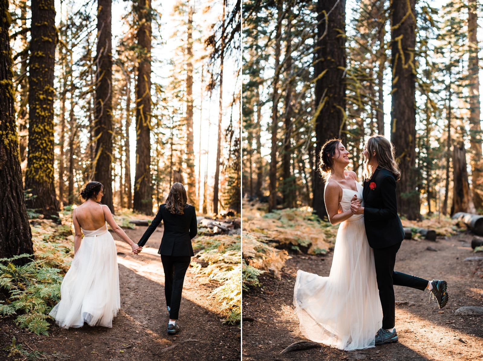 yosemite elopement with two brides
