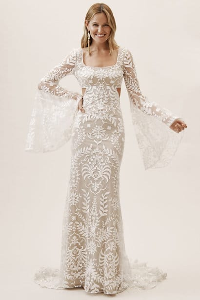 elopement wedding dresses andres gown bhldn