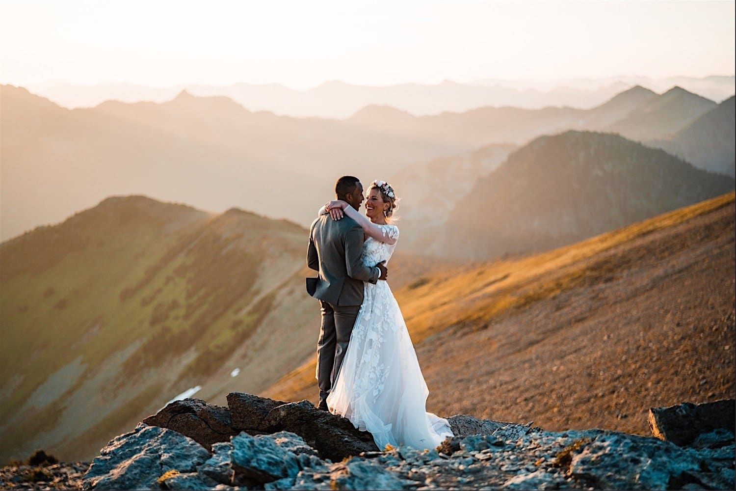 Elopement with kids at mt rainier national park