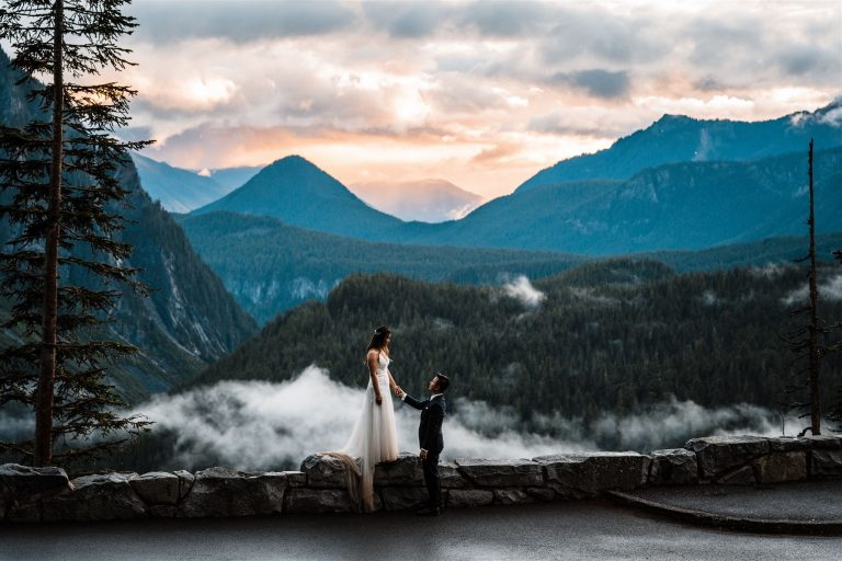 Misty Mountain Elopement at Mount Rainier