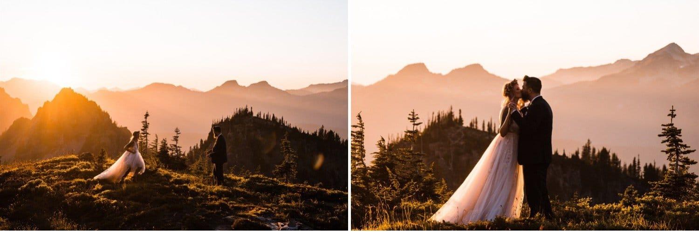 Mount Rainier Elopement at Sunset
