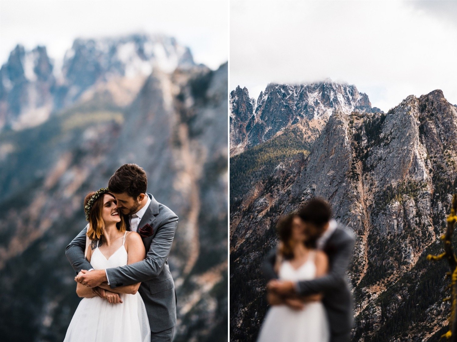 Climbing elopement north cascades