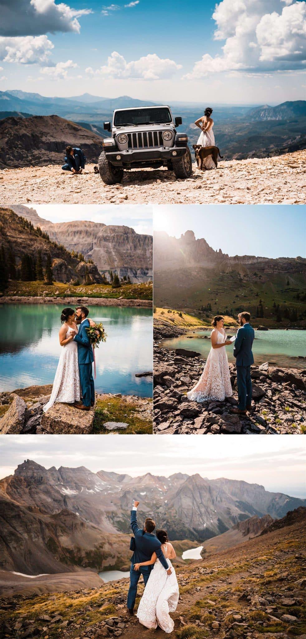 Telluride Elopement collage