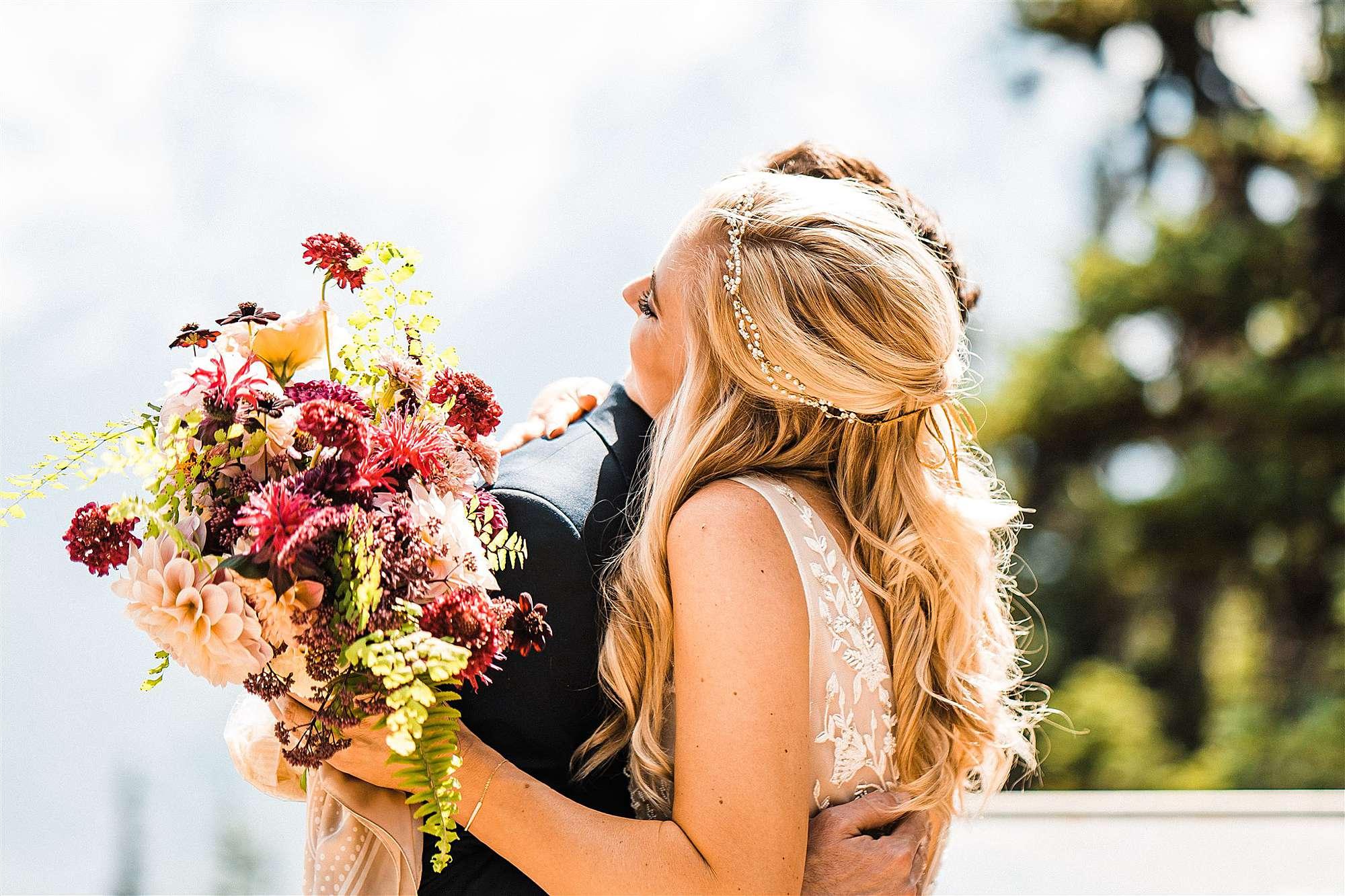 Mount Rainier Wedding in Wildflower Season