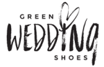 green wedding shoes logo for elopement photographer